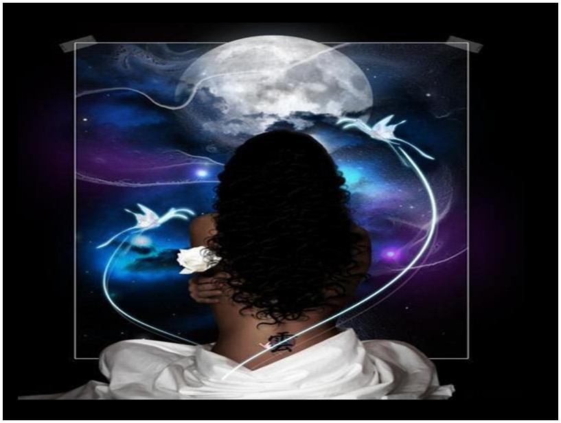 full moon black woman